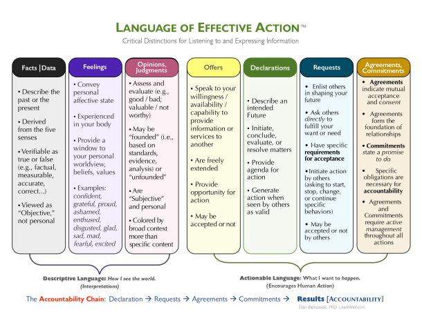 Language-of-Effective-Action